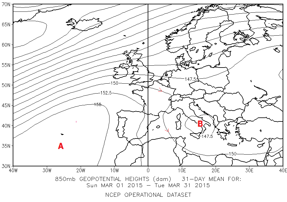 fig 5 - 1_31 marzo 2015 850 hPa