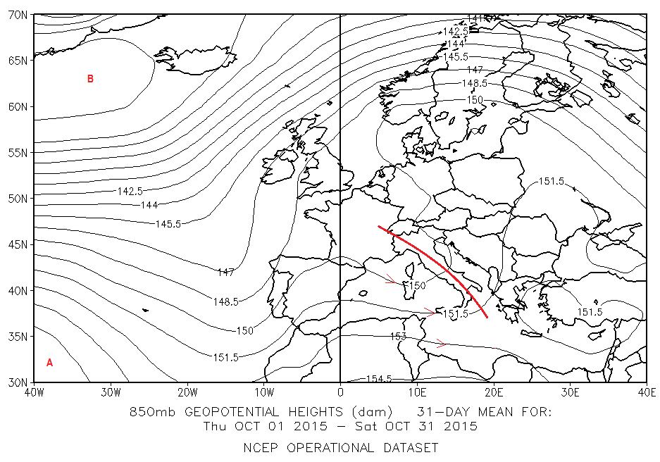 fig 5 - 1_31 Ottobre 2015 850 hPa