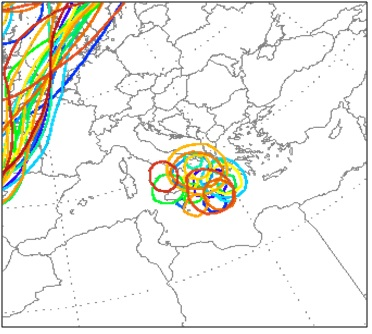 Fig.7: GFS Ensamble per Giovedì 23 Giugno. Fonte: www.wetterzentrale.de