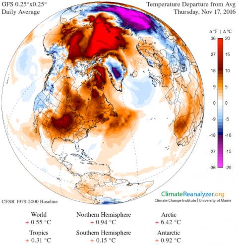 Figura 1– Anomalia termica del 17 novembre 2016
