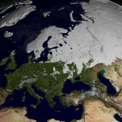 La copertura nevosa nell'emisfero nord