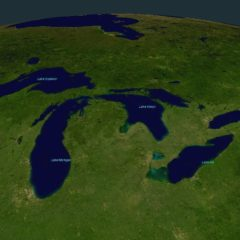 I Grandi Laghi del Nord America e il loro livello